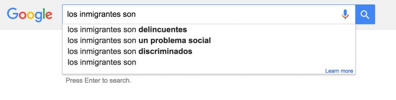 Estas son algunas de las sugerencias de Google para completar la frase...